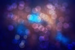 Dark Blue Bokeh Abstract Background