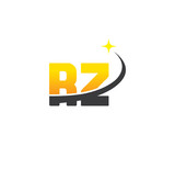 rz initial with swoosh and star