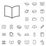 books outline, thin, flat, digital icon set - 109754733