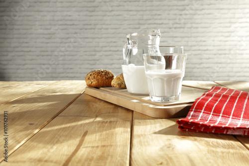 Fototapeta bread and table