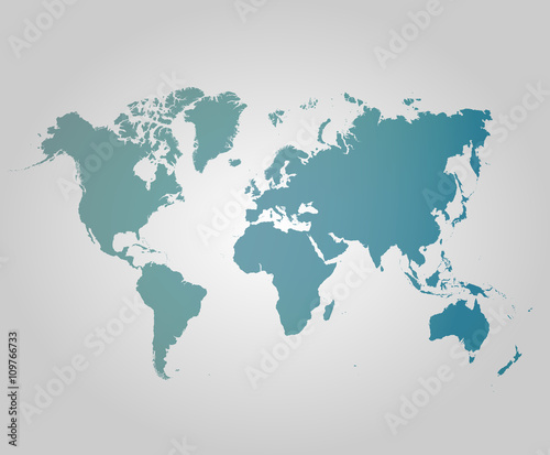 Fototapeta World map countries colorful. Vector illustration.