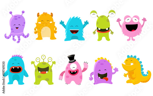 fototapeta na ścianę Cute Monster Set Illustration