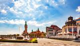 Piękna architektura Sopotu o poranku, Polska.