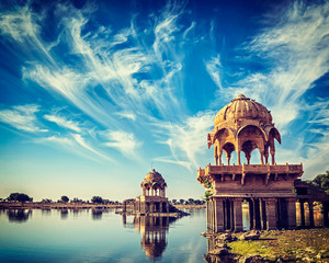 Indian landmark Gadi Sagar in Rajasthan © f9photos
