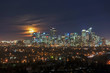 Full Moon Over The Calgary Downtown