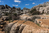 The Torcal de Antequera Natural Park contains one of the most impressive examples of karst landscape in Europe. This natural park is located near Antequera. Spain.