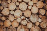 Запас дров для каминного отопления коттеджа