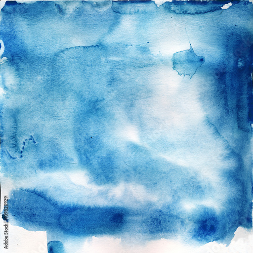 sia blue watercolor texture - 109820929