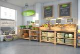Bioladen - mit einer Auswahl an frischen Obst und Gemüse. - 109823322