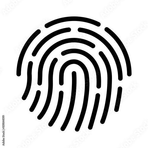 Ikona graficzna linii papilarnych ID dla aplikacji z odblokowaniem zabezpieczeń