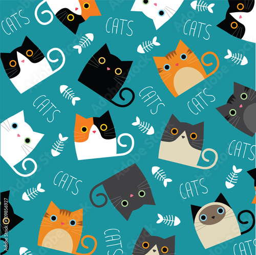 Naklejka Cute cats