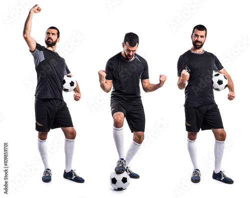 Poster Lucky football player