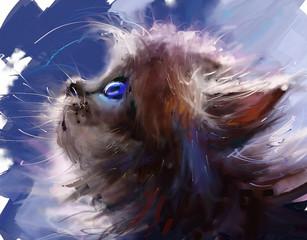 Cat. Digital painting.