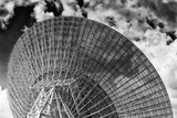 CAN Dish sector back sky close BW