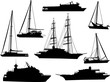 Detaily fotografie eight boats collection on white