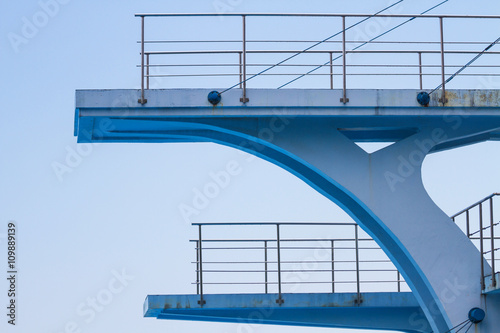 Olympic diving platform Poster