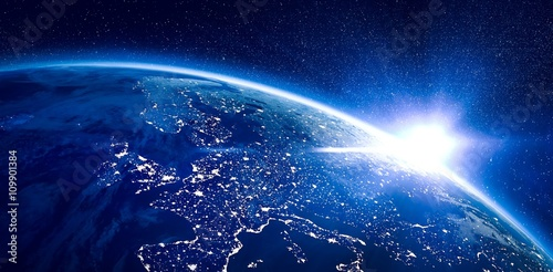 Aerial view of the Earth - 109901384