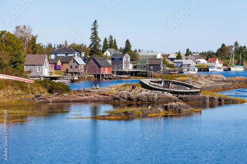 Fishing village of Blue Rock Nova Scotia NS Canada Poster