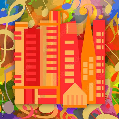 Fototapeta Music city