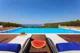 big luxury pool with decoration