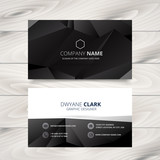 dark modern business card design illustration