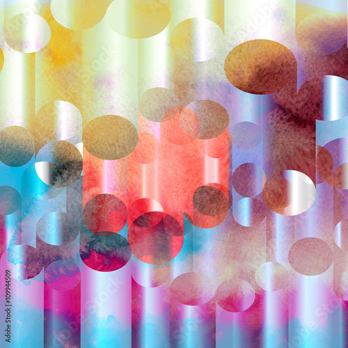 Plakat abstract watercolor geometric background