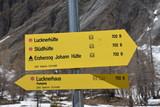 Großglockner, Schild, Tafel, Pfeil, Wegweiser, Ködnitztal, Kals, Wanderweg