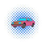German car icon, comics style