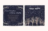 Fototapety winter wedding invitation set
