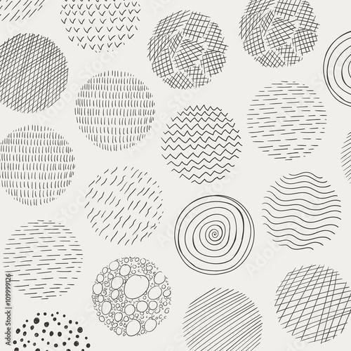 Zdjęcia na płótnie, fototapety, obrazy : Vector Illustration of Abstract Doodle Circles