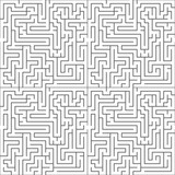 Black maze on white, seamless pattern