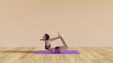 Yoga Class Bow Pose