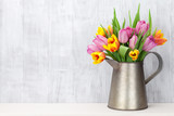 Fototapety Colorful tulip flowers bouquet