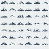 Fototapety Big mountain icons set. Vector illustration.