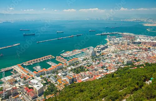 Aluminium Nice view on Gibraltar, UK