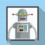 Robot design. Technology concept. Colorful illustration