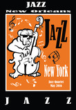 Jazz poster with double bass - 110047588