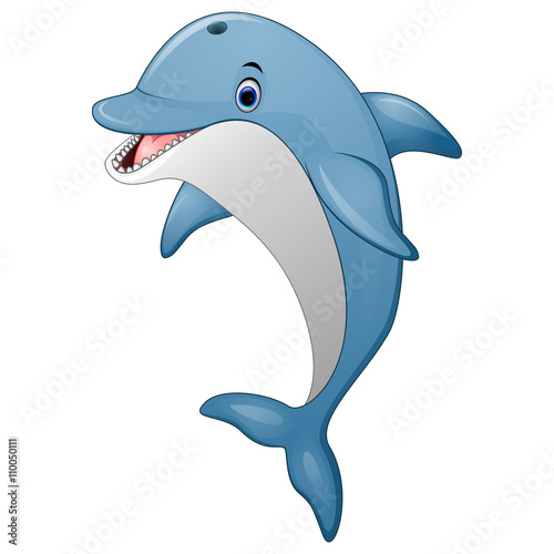 Fototapeta Standing Dolphin cartoon