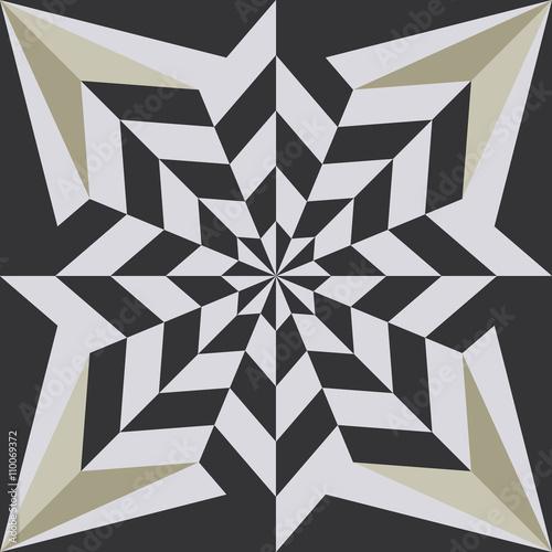 Vintage retro ceramic tile - 110069372