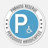 Logo parking réservé personnes handicapées.