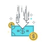 Budget cuts concept illustration
