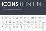 Music Thin Line Icons