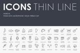 Music Thin Line Icons