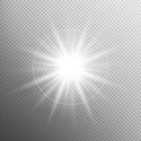 Fototapety White glowing light burst effect. EPS 10