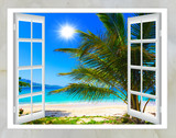 Fototapety Ocean view from the window on the island of sunny summer day