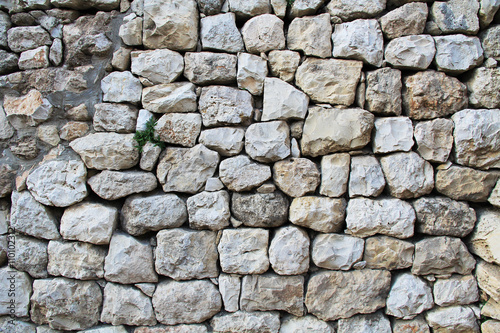 Close view of an excavated archeological wall in the Pool of Bethesda and Byzantine Church Poster