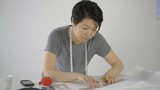 asian woman 4k seamstress