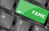 Computer Keyboard with Fame Key. Keyboard keys icon button vector. Keyboard Icon, Keyboard Icon Vector, Keyboard Icon Art, Keyboard Icon App