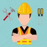 construction worker design