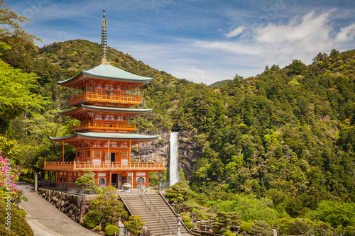 Kumano Nachi Taisha Shrine and Nachi no Taki Waterfall at Wakayama prefecture ,  Poster